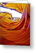 Flexibility Rock In Lower Antelope Canyon Near Page-arizona  Greeting Card