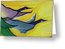 Flight By Jrr Greeting Card
