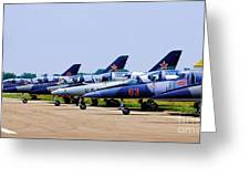 Flight Line At The E.a.a. Greeting Card