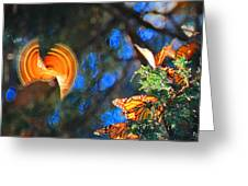 Flight Of A Monarch Greeting Card