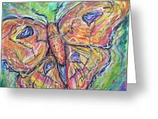 Flight Of The Moth Greeting Card by M C Sturman