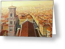 Flight Over Florence Greeting Card by Kiril Stanchev