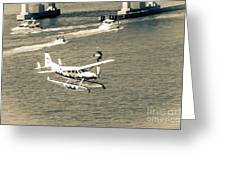 Flight- Landing In The Bay Greeting Card