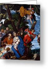 Flight To Egypt With Angels Greeting Card