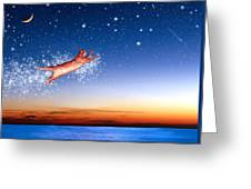 Flight To Sagittarius Greeting Card