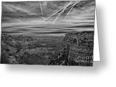 Flightpath-black And White Greeting Card