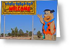 Flinstones Bedrock City In Arizona Greeting Card