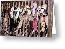 Flip Flops By Jan Marvin Greeting Card