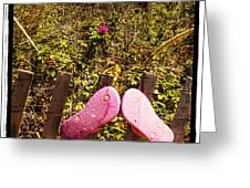 Flip Flops Greeting Card