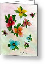 Floating Buds Greeting Card