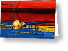 Floating Buoys And Reflections Greeting Card