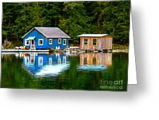 Floating Cabin Greeting Card