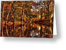 Floating Down Heavenly River. Greeting Card