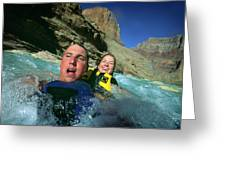 Floating Down The Little Colorado River Greeting Card
