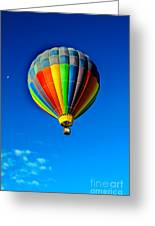 Floating Free In A Hot Air  Balloon Greeting Card