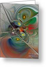 Floating Lightness-abstract Art Greeting Card
