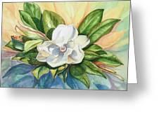 Floating Magnolia Greeting Card