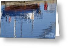 Floating On Blue 21 Greeting Card