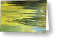 Floating On Blue 27 Greeting Card