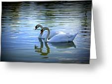 Floating On Glass Greeting Card by Laurie Perry