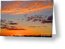 Floating Sunset Greeting Card