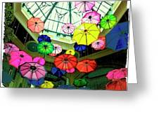 Floating Umbrellas In Las Vegas  Greeting Card