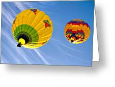 Floating Upward Hot Air Balloons Greeting Card