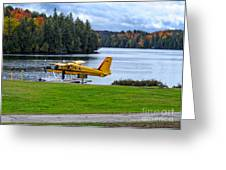 Floatplane In Fall Greeting Card