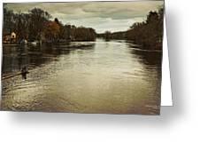 Flood Waters Milwaukee River 2013 Greeting Card