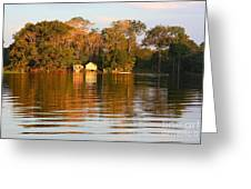 Flooded Amazon With Houses Greeting Card