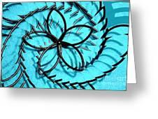 Flor Azul Greeting Card