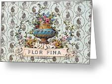 Flor Fina Greeting Card