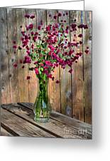 Flora Vase In Hdr Greeting Card