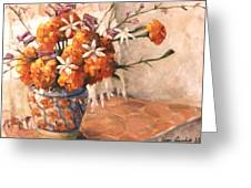 Floral 9 Greeting Card