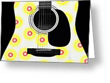 Floral Abstract Guitar 22 Greeting Card