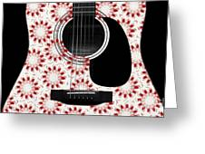 Floral Abstract Guitar 24 Greeting Card