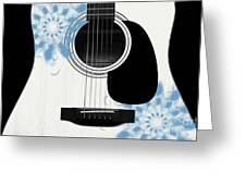 Floral Abstract Guitar 25 Greeting Card