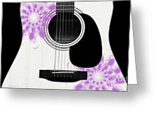 Floral Abstract Guitar 26 Greeting Card