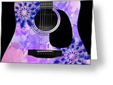 Floral Abstract Guitar 27 Greeting Card