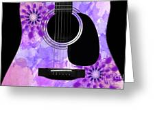 Floral Abstract Guitar 29 Greeting Card