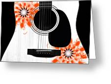 Floral Abstract Guitar 32 Greeting Card
