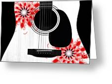 Floral Abstract Guitar 33 Greeting Card