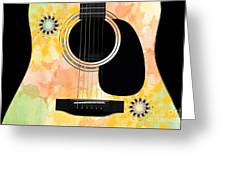 Floral Abstract Guitar 37 Greeting Card