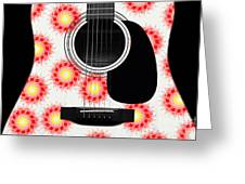 Floral Abstract Guitar 8 Greeting Card
