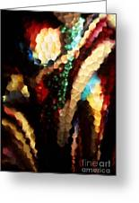 Floral Abstract I Greeting Card