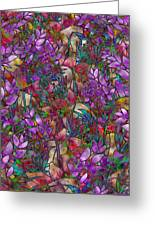 Floral Abstract Stained Glass Greeting Card