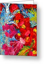 Floral Abstract Part 3 Greeting Card