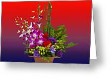 Floral Arrangement Greeting Card by Chuck Staley