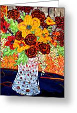 Floral Arrangement Greeting Card by Diane Fine