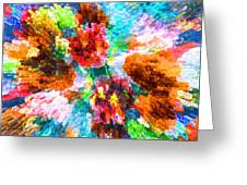 Floral Art Xiii Greeting Card